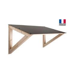 Jardipolys - auvent en bois avec couverture hpl 1 pan 126 x 68,4 cm