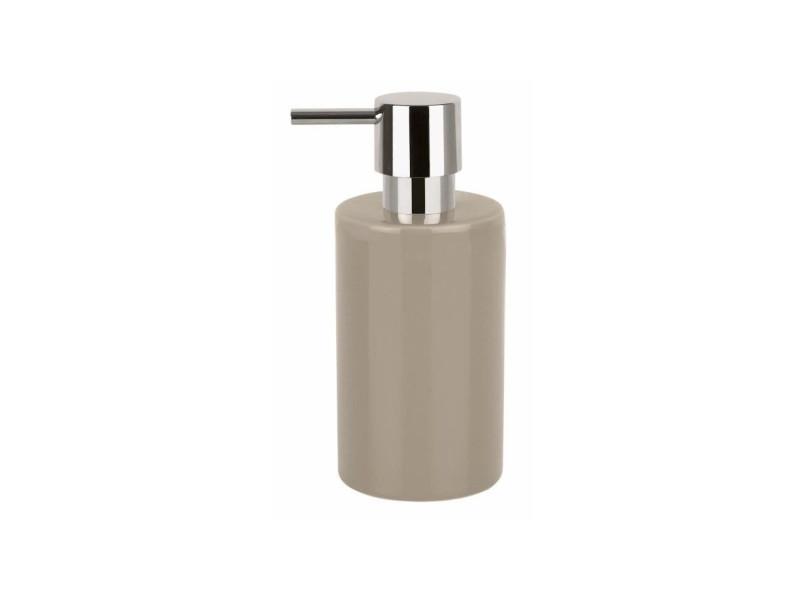 Tube distributeur de savon gres - 16x7x7 cm - taupe