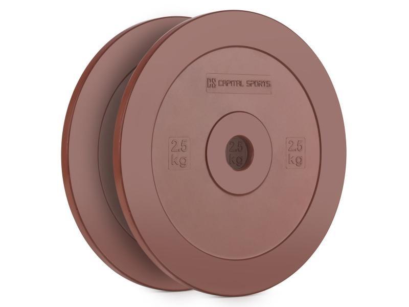 Capital sports methoder paire de disques poids en caoutchouc 2,5kg – rouge FIT13-Methoder