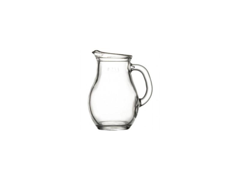 Pichet en verre trempé 0.5 à 1.85 l - lot de 6 - stalgast - 7,8 cm verre 50 cl 1.00 l