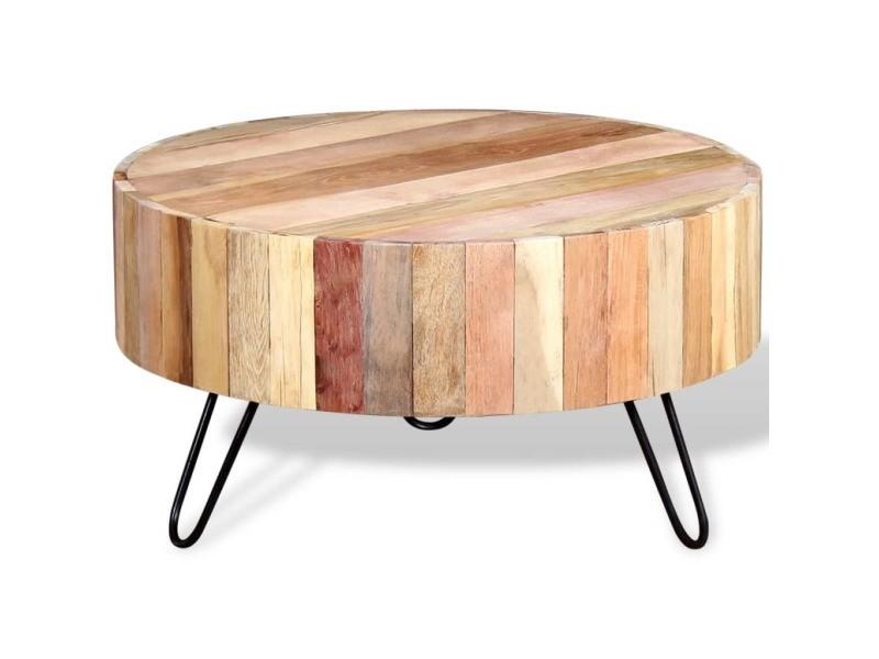 Vidaxl Table Bois De Massif Vente Basse 244237 Récupération rhdxQtsC