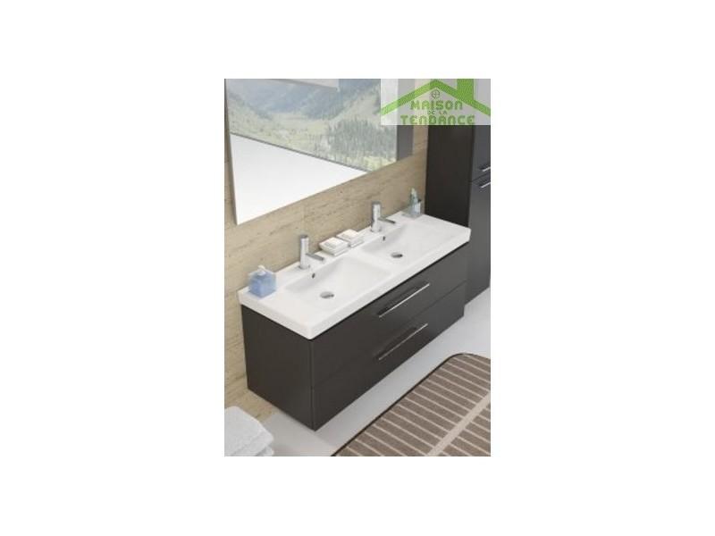 Ensemble meuble & lavabo riho altare set 35 130x47 x h56,5 cm - bois laqué brillant FAL130*GLOSSGLOSS*S35