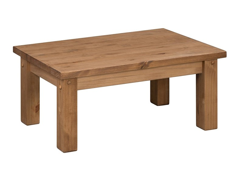 Tortilla table basse en bois pin antique  Vente de Meuble tv  Conforama -> Table Tv En Bois