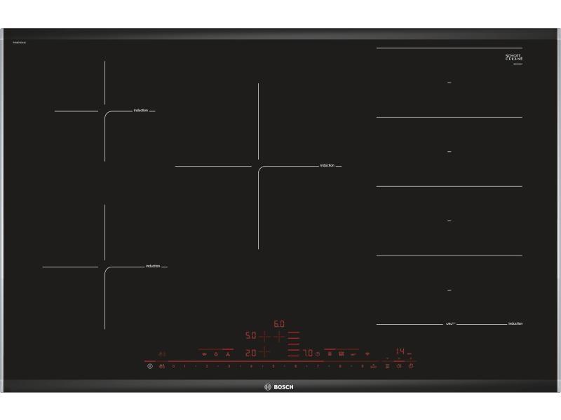 Table de cuisson à induction 80cm 5 feux 7400w flexinduction noir - pxv875dv1e pxv875dv1e