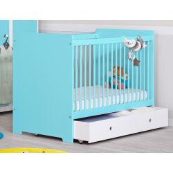 Chambre bébé complète bleu tendre grain d'orge
