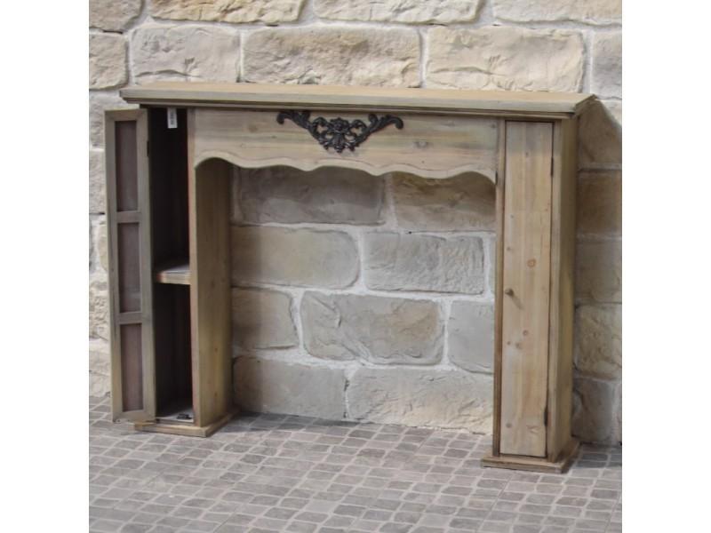 Style Ancien Ancienne Entourage Cheminee Encadrement Manteau