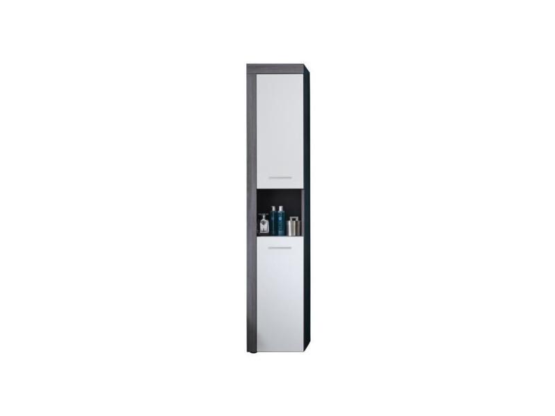Miami colonne de salle de bain l 36 cm - gris anthracite et blanc mat TRENDT125910103