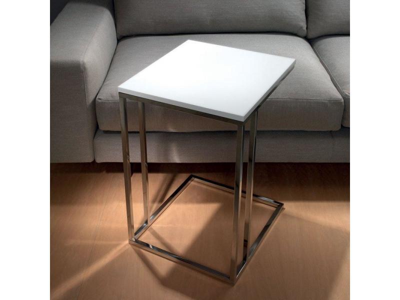 Lamina bout de canap blanc mat 20100853506 vente de canap convertible conforama - Bout de canape conforama ...