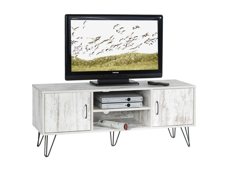 meuble banc tv design eva mdf shabby chic vente de meuble tv conforama. Black Bedroom Furniture Sets. Home Design Ideas