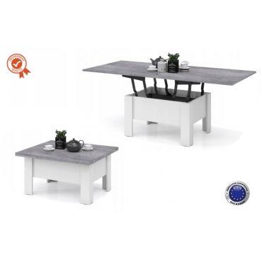 Goose table basse relevable relevable et extensible beton - Table basse relevable extensible conforama ...