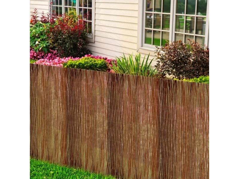 Vidaxl clôture de saule 300x100 cm 141610