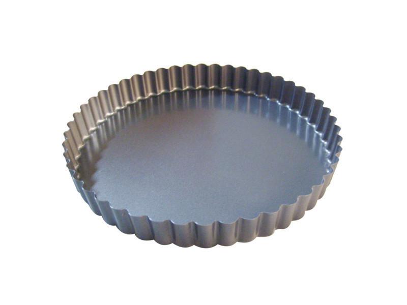 Moule à tarte 32 cm en acier anti adhèrent fond fixe