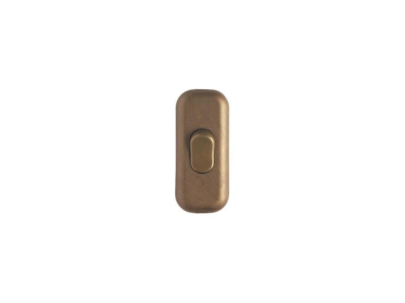 Interrupteur de fil souple 2 a vieil or 826022
