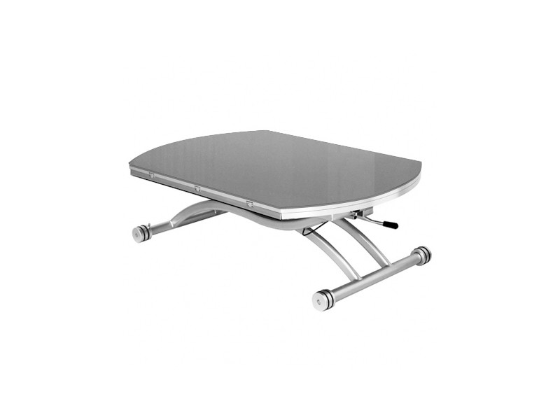 Table basse relevable colombia verre gris