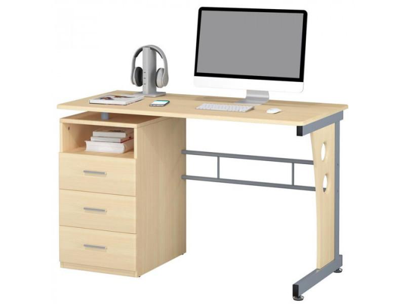 bureau informatique avec tiroirs de rangement couleur rable vente de bureau conforama. Black Bedroom Furniture Sets. Home Design Ideas