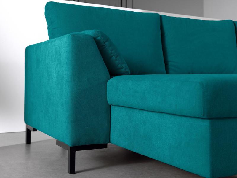 montana canap d 39 angle r versible convertible en tissu couleur bleu turquoise vente de. Black Bedroom Furniture Sets. Home Design Ideas