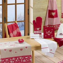 Petit cœur montagne 12 x 12 rouge 12 x 12 les ateliers du linge