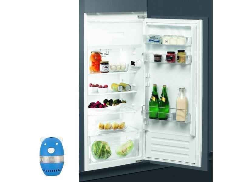 Réfrigérateur frigo simple porte intégrable 191l a+ froid statique silencieux