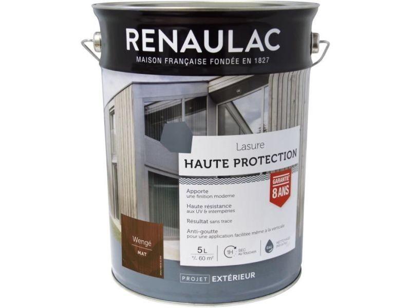 Peinture - vernis - traitement (lasure - effets decoratifs) lasure haute protection wenge - garantie 8 ans - 5l - 60m² / pôt