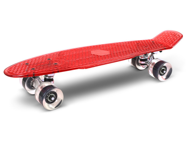 Skateboard transparent skatus rouge / transparent Skateboard Transparent Rouge / T