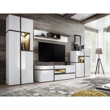 paris prix meuble tv design cross 310cm blanc vente. Black Bedroom Furniture Sets. Home Design Ideas