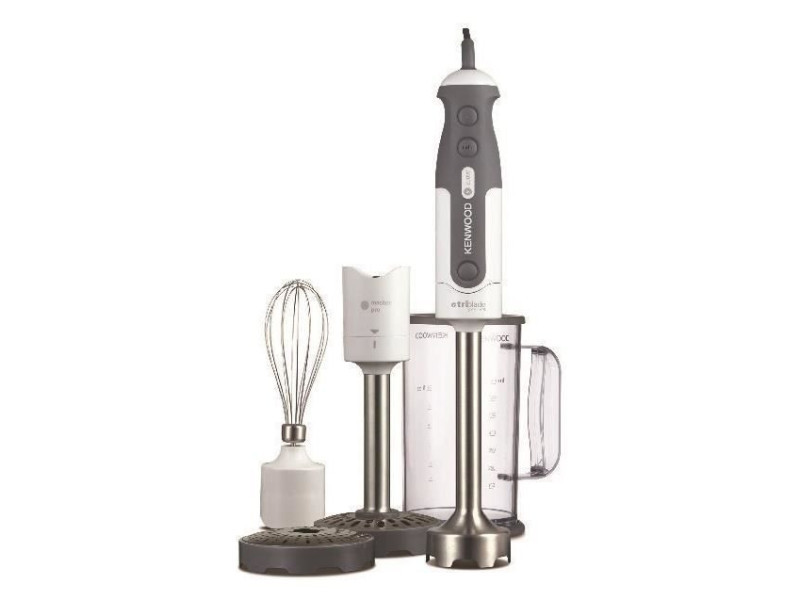 Kenwood hdp401wh mixeur plongeant triblade - 800 w - blanc/gris
