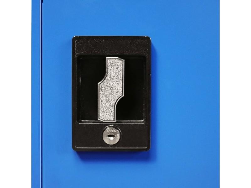 Icaverne - casiers et armoires de rangement reference armoire de bureau métal 90 x 40 x 90 cm gris et bleu
