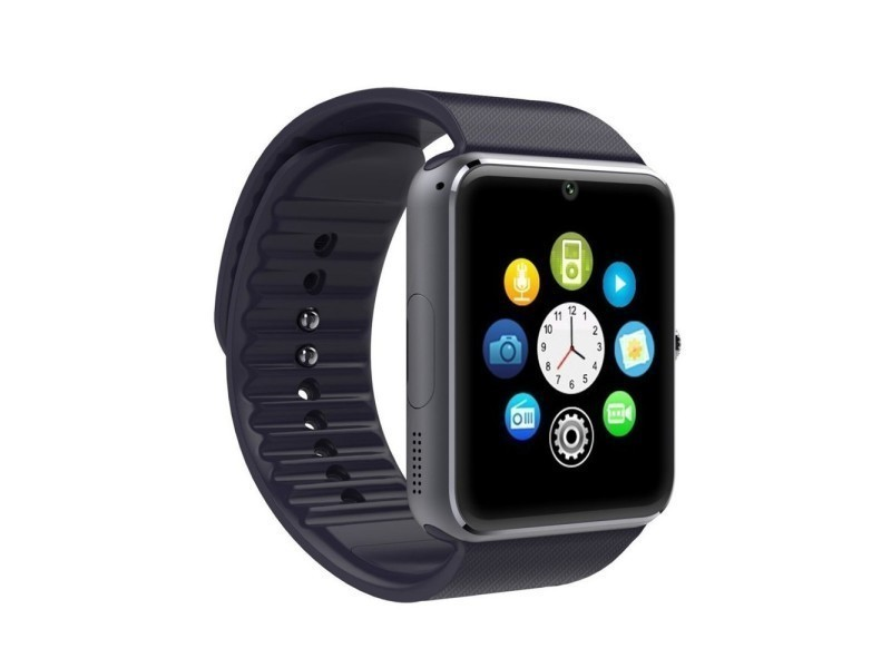 Montre telephone bluetooth connectée pour smartphone android noir