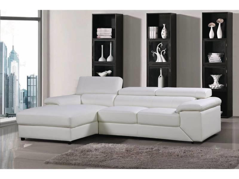 Canapé d'angle en cuir reconstitué et pvc \
