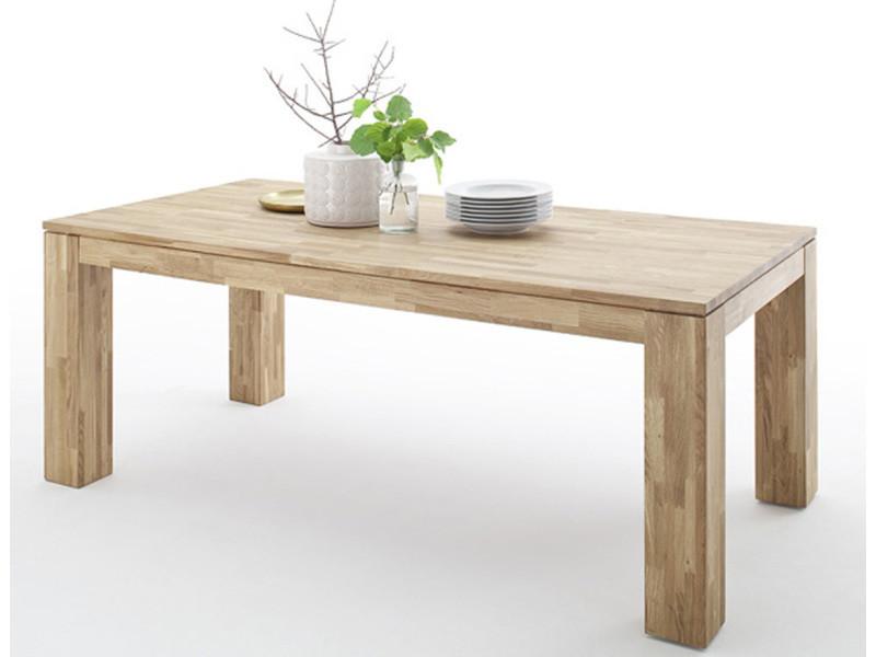 Table de salle à manger extensible en chêne sauvage - l.140-220 x h.77 x p.90 cm -pegane- PEGANE