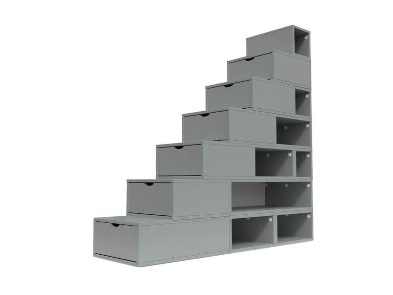 Escalier cube de rangement hauteur 175 cm gris ESC175-G