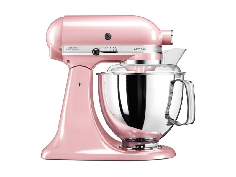 Kitchenaid robot pâtissier rose romantique 300w 4,8l 5ksm175psesp