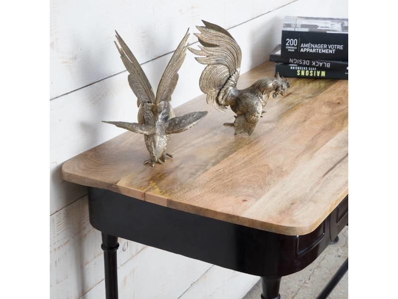 console industrielle 2 tiroirs s21 vente de console conforama. Black Bedroom Furniture Sets. Home Design Ideas