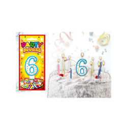 Bougies chiffres anniversaire - bougies chiffres anniversaire 6 - bougies chiffres anniversaire 6