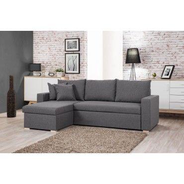 oakland canap d 39 angle convertible r versible gris clair 225 x 145 x 85cm conforama. Black Bedroom Furniture Sets. Home Design Ideas