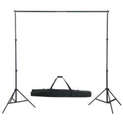 Support de fond photo vidéo réglable 155-300 cm professionnel avec sac 1802001 helloshop26 1802001/4