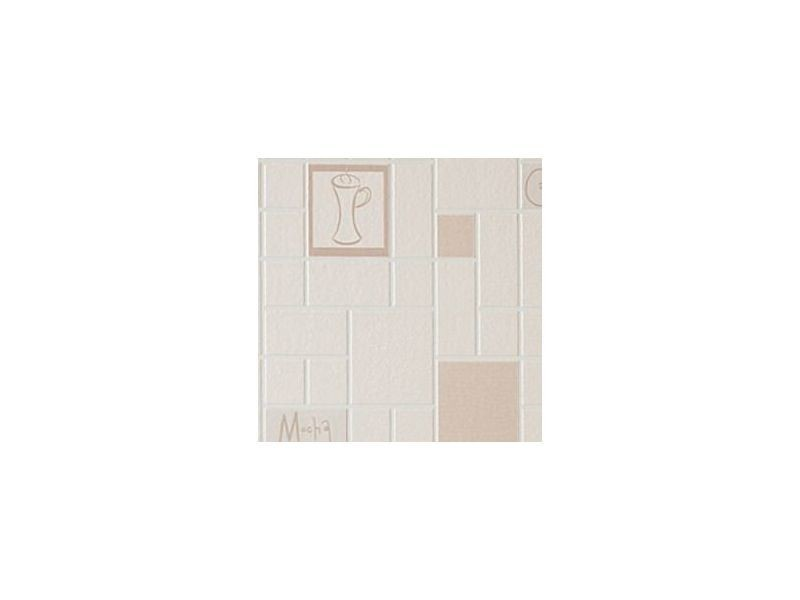 Papier peint cuisine et salle de bain cafe culture beige 52cm x 10 ...