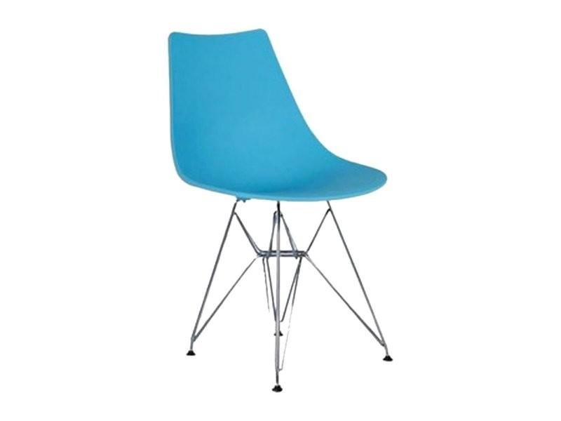 chaise design lya scandinave pied m tal eiffel conforama. Black Bedroom Furniture Sets. Home Design Ideas