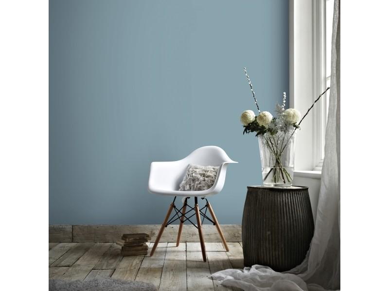 Papier peint intissé uni bailey vinyle 1005 x 52cm bleu 2258-40