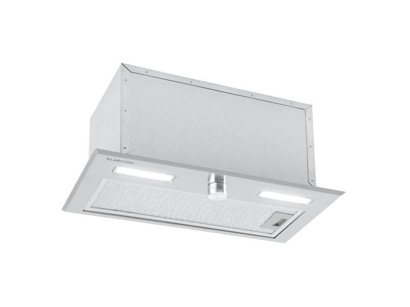 Klarstein simplica hotte aspirante encastrable 52 cm - extraction 400 m³ / h - inox argent DSM-Simplica50