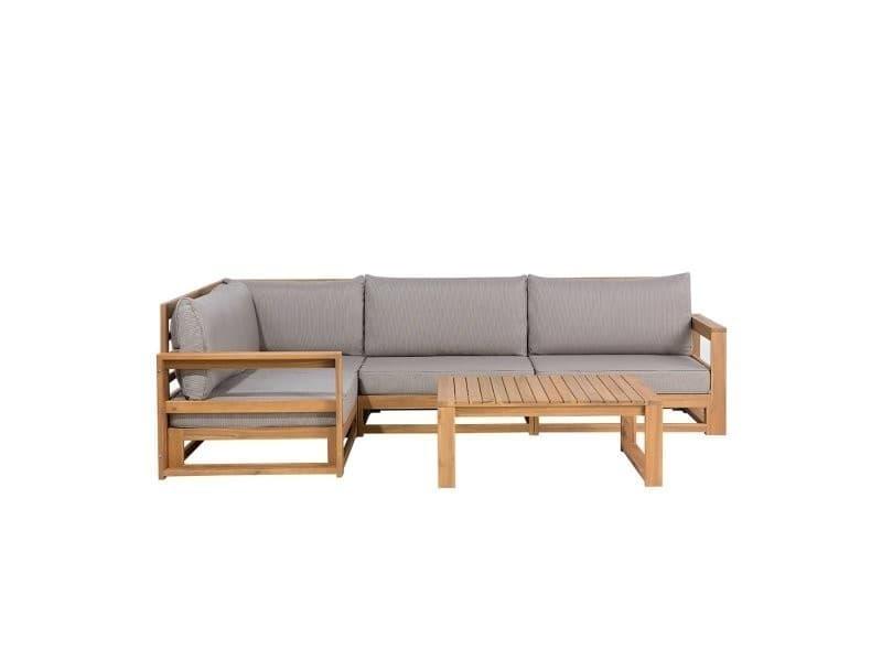 Salon de jardin - meubles en bois d acacia - ensemble de terrasse ...