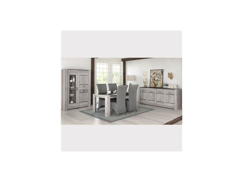 Salle manger compl te moderne couleur ch ne gris angus - Conforama catalogue salle a manger ...