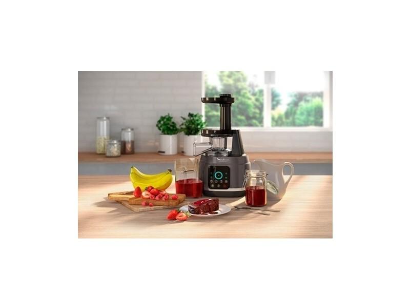 Extracteur de jus pour fruits et légumes avec écran tactle et 6 programmes argent noir