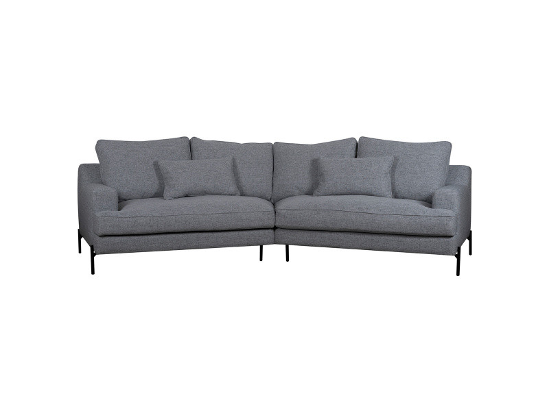 Canapé d'angle 5 places gris chiné puchkine