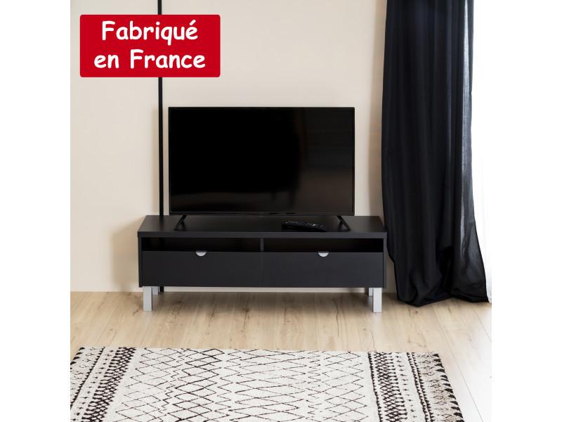 Meuble tv 2 tiroirs noir