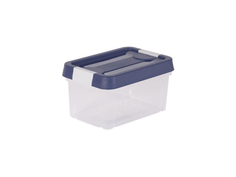 Eda plastique boîte de rangement clippy 4 5 l naturel avec