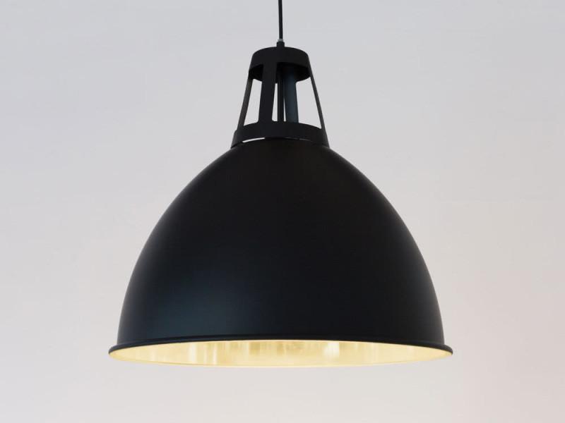 Métal Suspension En Eclairage Intérieur Noir Safari Dôme Industriel SqzpMGUV