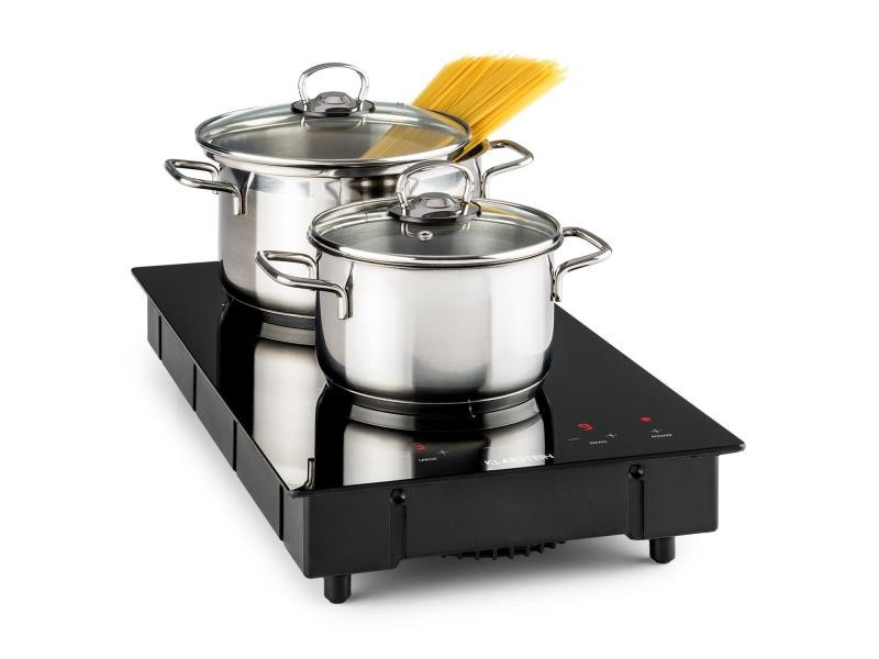 Klarstein varicook domino plaque cuisson double à induction - minuterie - 3100w - vitrocéramique