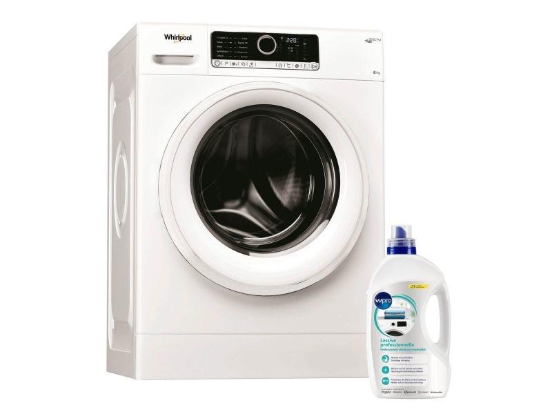 Lave-linge frontal 8kg 1400trs/min tambour 55l moteur zen machine à laver hublot
