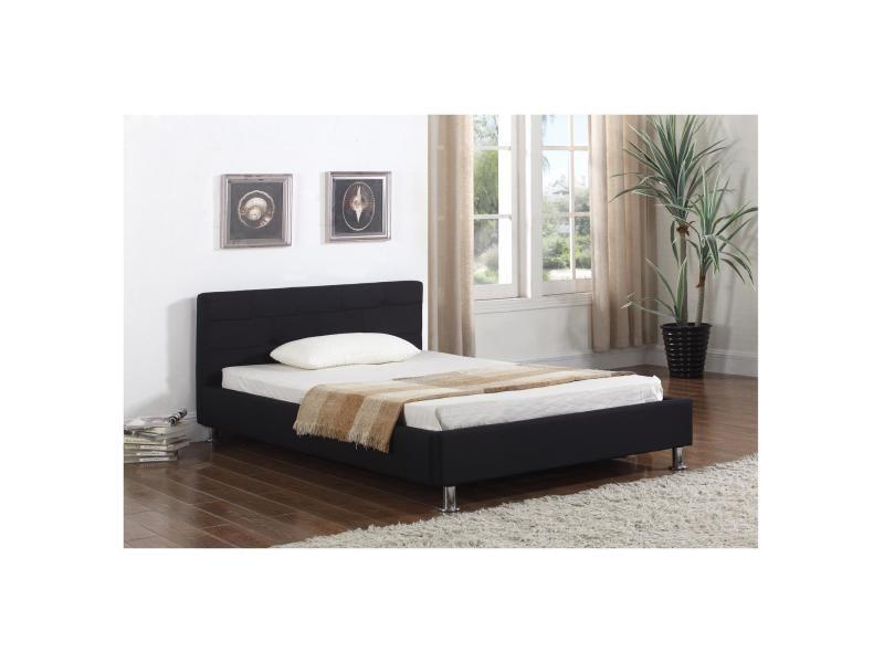 lit simple pour adulte nizza 120 x 190 cm 1 place et demi. Black Bedroom Furniture Sets. Home Design Ideas